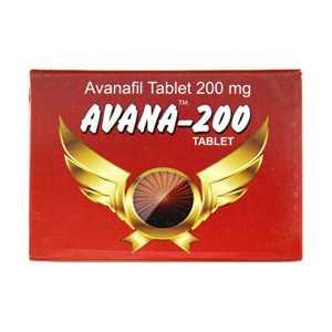 Avanafil 200mg (4 pills) online