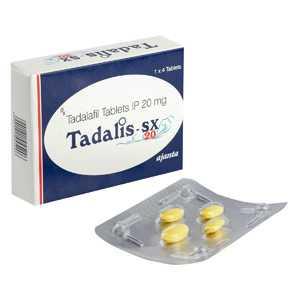 Tadalafil 20mg (4 pills) online