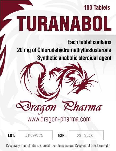 Turinabol (4-Chlorodehydromethyltestosterone) 100 Tabs (20 mg/tab) online